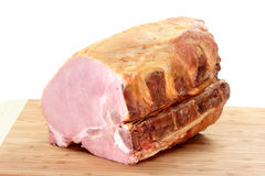 Pork ham meat. Pork meat on a kitchen board isolated on white background Royalty Free Stock Photos