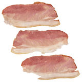 Prosciutto Smoked Dry Cured Ham Slices Isolated On White Background Royalty Free Stock Images