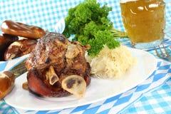 Pork hock with pretzels Stock Image