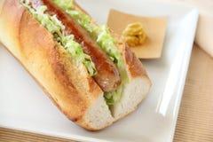 Pork Hot Dog Royalty Free Stock Photo