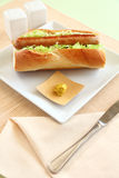 Pork Hot Dog Royalty Free Stock Images