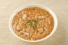 Pork intestine thin noodle Stock Image