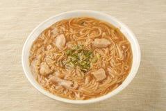Pork intestine thin noodle Stock Image