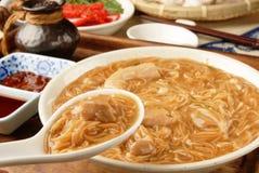 Pork intestine thin noodle Stock Photo