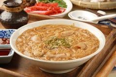 Pork intestine thin noodles. Taiwan famous food - pork intestine thin noodles stock image