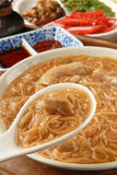 Pork intestine thin noodles Stock Photos