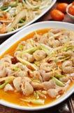 Pork intestines with ginger. Taiwan`s hakka  traditional cuisine -  Pork intestines with ginger Stock Image