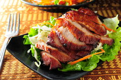 Pork jowl. Thai style Pork jowl meat stock photos