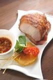 Pork jowl. Thai style Pork jowl meat stock images