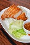 Pork jowl. Thai style Pork jowl meat stock photography