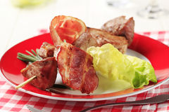 Pork kebab Stock Image