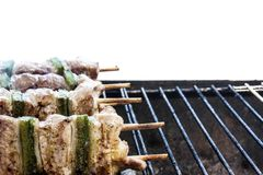 Pork kebab Stock Photography