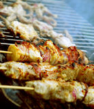 Pork kebab royalty free stock photography