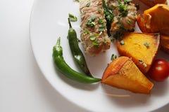 Pork kebab closeup Royalty Free Stock Photography