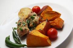 Pork kebab closeup Stock Images