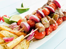 Pork kebabs Royalty Free Stock Image