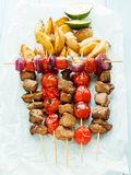 Pork kebabs Stock Photo