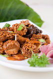 Pork kidney and vegetable. Food in china -- vegetable and pork kidney royalty free stock image