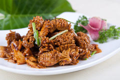 Pork kidney and vegetable. Food in china -- vegetable and pork kidney royalty free stock images