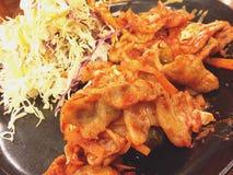 Pork kimgi of korean food. Is delicious Royalty Free Stock Photo