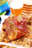 Pork knuckle baked with beer Stock Photography