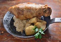 Pork Knuckle. German Baked Grilled Pork Knuckle Stock Image