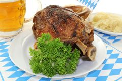 Pork knuckle with pretzels Royalty Free Stock Photography