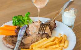 Pork Kuroda Ta Boo. Pork Kuroda Abu Ta sauce and delicious Royalty Free Stock Photography