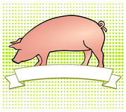 Pork-Label Stock Photography
