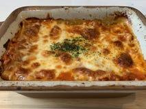 Pork Lasagna royalty free stock photography