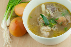Pork leg spicy lemongrass soup Royalty Free Stock Photos