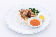 Pork Leg Stew with Rice (Kao Ka Moo) Royalty Free Stock Image