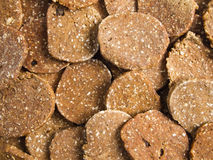 Pork liver biscuit background Royalty Free Stock Images