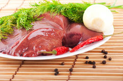 Pork liver with pepper Royalty Free Stock Photography