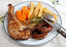 Pork loin chop dinner Royalty Free Stock Photography
