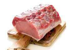 Pork loin on a cutting board. Royalty Free Stock Photography