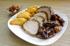 Pork loin with potatoes Stock Image