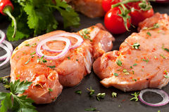 Pork Loin Steak Stock Photos