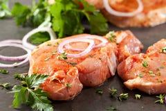 Pork Loin Steak Stock Images