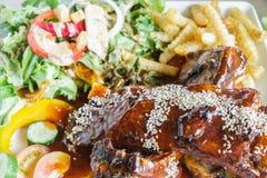Pork loin steak Royalty Free Stock Photography