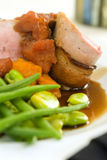 Pork loin wrapped with bacon 3 Royalty Free Stock Photo