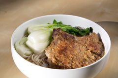 Pork loins noodles soup Stock Photography