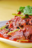 Pork lungs in chili sauce Stock Photo