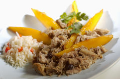 Pork with mango Royalty Free Stock Photo