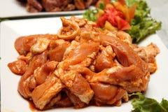 Pork marinated spices Royalty Free Stock Photo