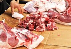 Pork market Royalty Free Stock Photo