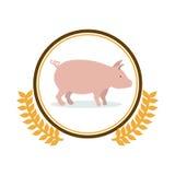 Pork meal symbol Stock Photo