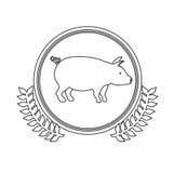 Pork meal symbol Royalty Free Stock Photo
