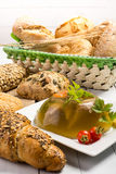 Pork meat in aspic Stock Photos