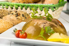 Pork meat in aspic Royalty Free Stock Images